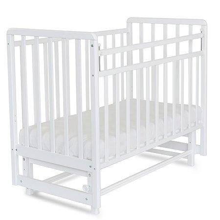 Кровать детская Babyton с маятником Белая
