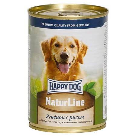 Корм для собак Happy Dog Natur Line ягненок-рис консервированный 400кг
