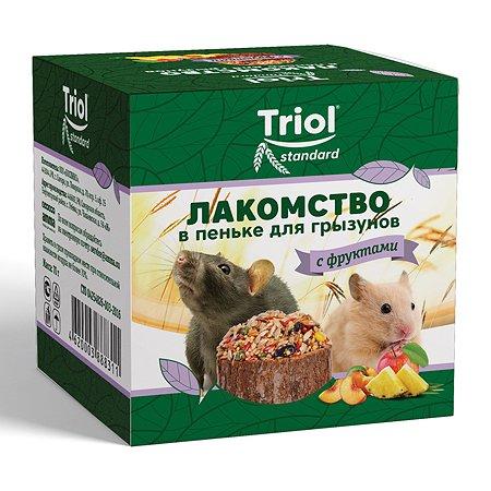 Лакомство для грызунов Triol Standard в пеньке с фруктами 70г