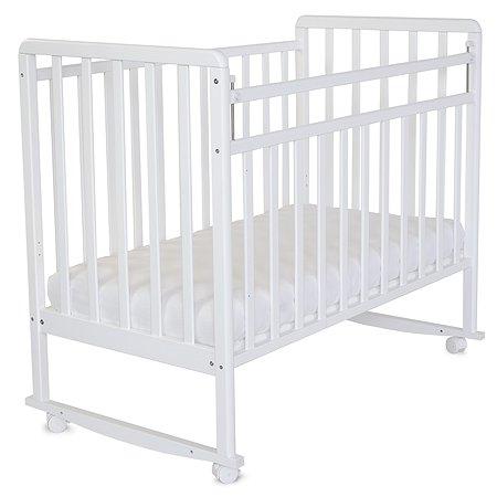 Кровать детская Babyton колесо-качалка Белая