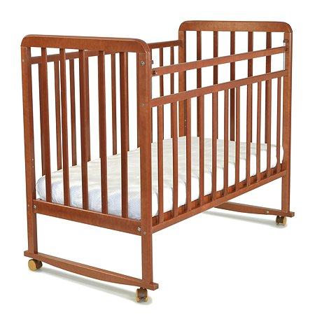 Кровать детская Babyton колесо-качалка Орех