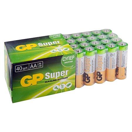 Батарейка GP АА(LR6) 15А-B40 щелочные 40шт