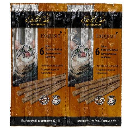 Лакомство для кошек Edel Cat Колбаски курица-индейка-дрожжи 5г*6шт