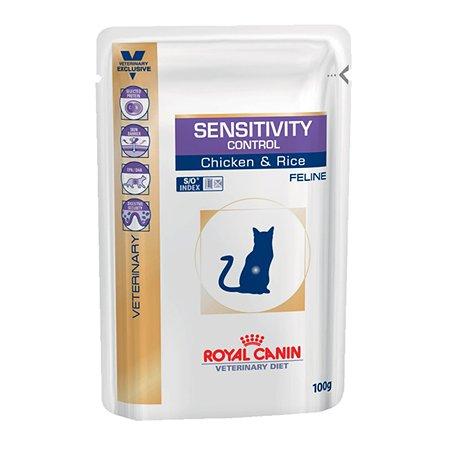 Корм для кошек ROYAL CANIN Veterinary Diet Sensitivity Control при пищевой аллергии кусочки в желе курица 100г
