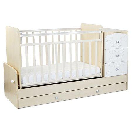 Кровать детская Babyton Береза Белая