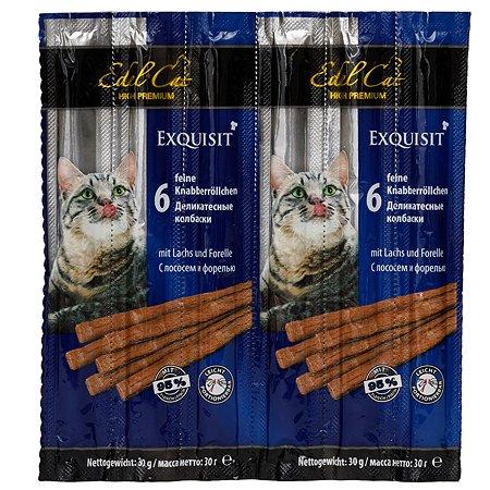 Лакомство для кошек Edel Cat Колбаски лосось-форель 5г*6шт