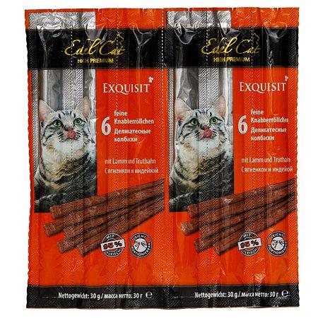 Лакомство для кошек Edel Cat Колбаски ягненок-индейка 5г*6шт