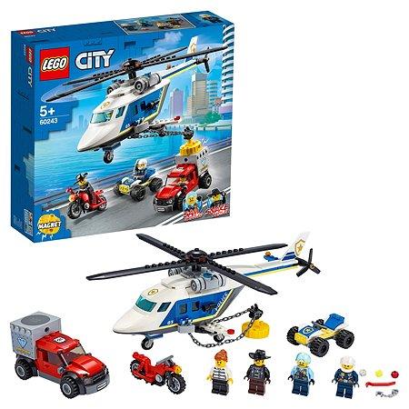 Конструктор LEGO City Police Погоня на полицейском вертолете 60243
