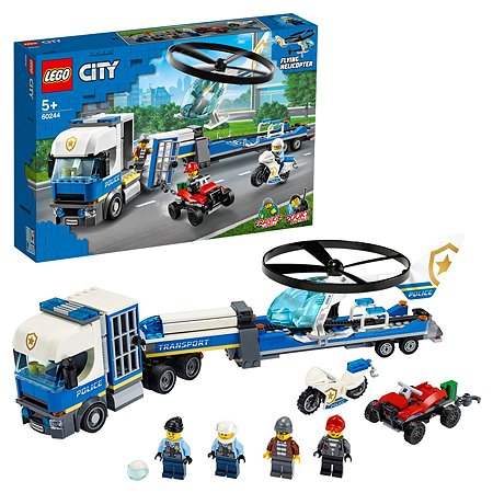 Конструктор LEGO City Police Полицейский вертолетный транспорт 60244