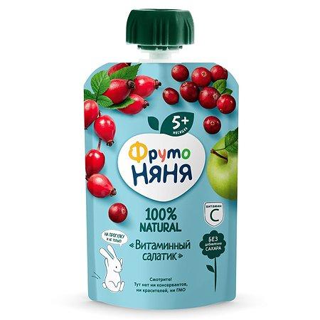 Пюре ФрутоНяня витаминный салатик с шиповником 90 г с 5 месяцев