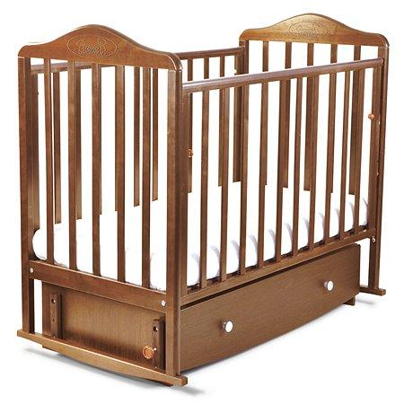 Кровать Наша Мама Джулия  с попер.маятником и ящиком цв.орех