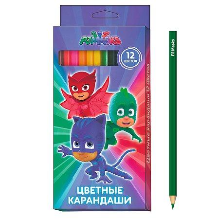 Карандаши цветные PJ masks 12 цветов