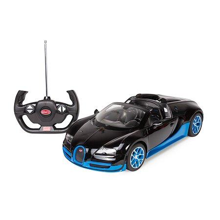 Машинка Rastar радиоуправляемая Bugatti Vitesse 1:14 черно-голубая