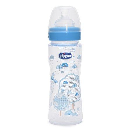Бутылочка Chicco Well-Being Boy 330 мл 4 мес+ с силиконовой соской быстрый поток (310205116)