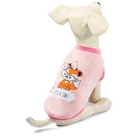 Майка для собак Triol Лисичка S Розовая