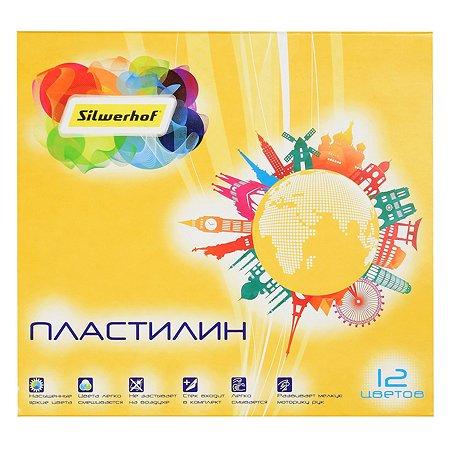 Пластилин Silwerhof Солнечная коллекция 180г 12цветов 1098701