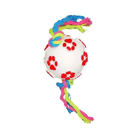 Игрушка для собаки Uniglodis Мяч и Веревка белый-красный Uniglodis