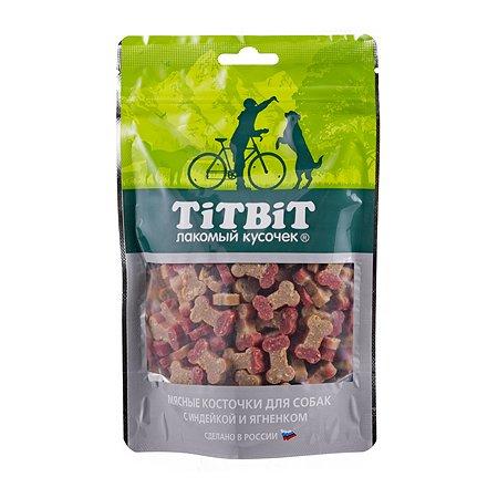 Лакомство для собак TITBIT Косточки мясные с индейкой и ягненком 145г