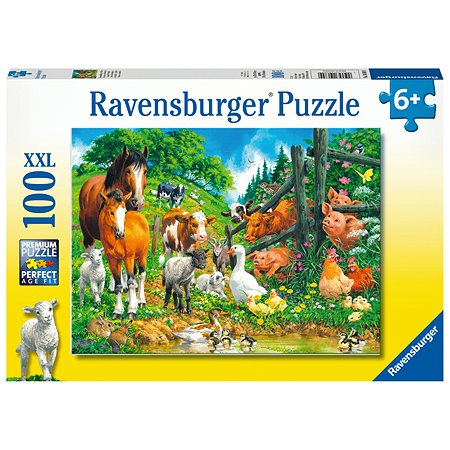 Пазл Ravensburger Встреча животных 100элементов 10689