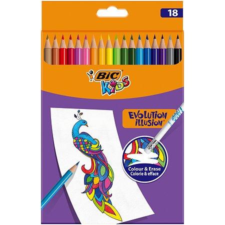 Карандаши цветные BIC Илюжен 24цвета 987869