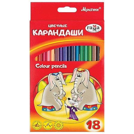 Набор карандашей Гамма Мультики 18цветов 050918_08