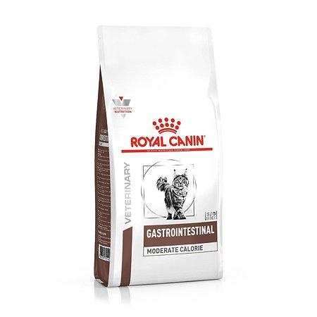 Корм для кошек ROYAL CANIN Gastro Intestinal Moderate Calorie GI-35 диета при нарушении пищеварения с умеренным содержанием энергии 0.4кг