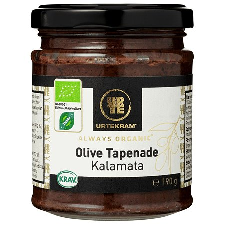 Тапенада Urtekram оливковая органическая 190г