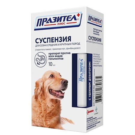 Препарат противопаразитный для собак Астрафарм Празител плюс средних и крупных пород суспензия 10мл