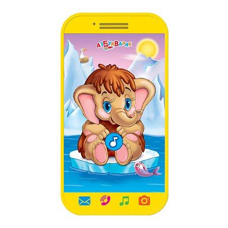 Игрушка Азбукварик мини-смартфон Мамонтенок