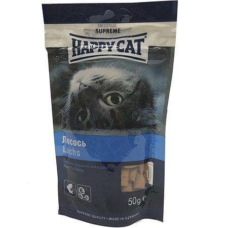 Лакомство для кошек Happy Cat Подушечки лосось 50г