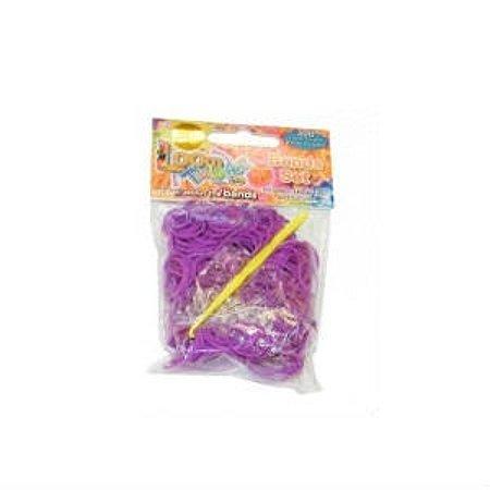 Набор для плетения браслетов LOOM TWISTER из ароматизированных резинок (фиолетовый)