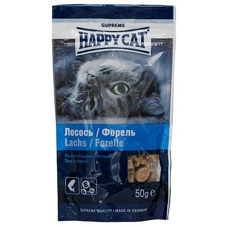 Лакомство для кошек Happy Cat Угощение лосось-форель 50г