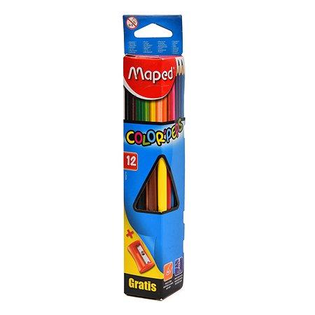 Карандаши цветные MAPED Color Peps 12цветов+точилка 183213