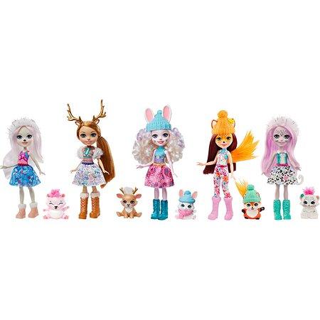 Набор игровой Enchantimals Снежный день с друзьями 5 кукол+питомцы GXB20