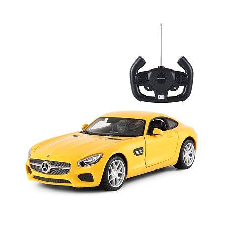 Машинка на радиоуправлении Rastar Mercedes AMG GT 1:14 Желтая