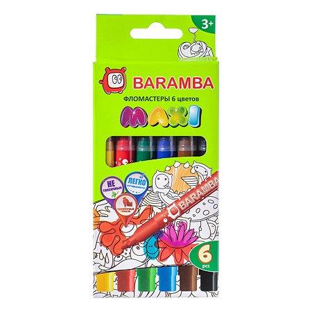 Фломастеры Baramba УТОЛЩЕННЫЕ 6 цветов