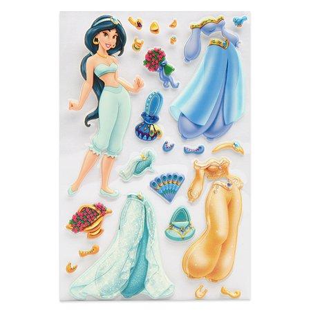 Наклейка декоративная лицензионная Disney Жасмин с нарядами