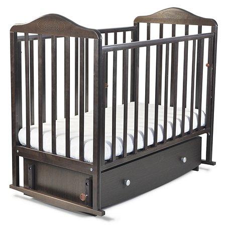 Кровать Наша Мама Джулия  с попер.маятником и ящиком цв.венге