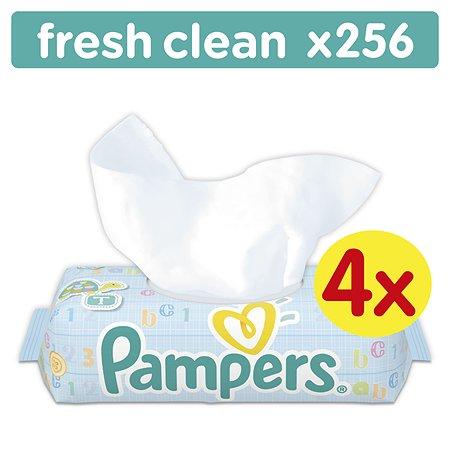Салфетки Pampers Fresh Clean влажные сменный блок 256 штук