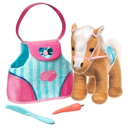 Сумка Pucci Pups полосатая с бежевой лошадью