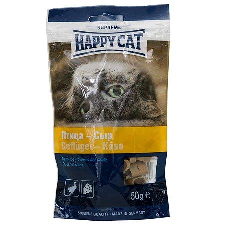 Лакомство для кошек Happy Cat Угощение птица-сыр 50г