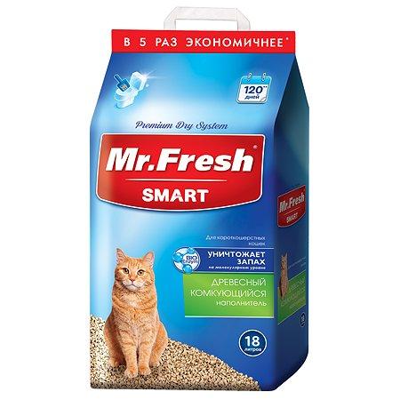 Наполнитель для кошек Mr.Fresh Smart короткошерстных 18л