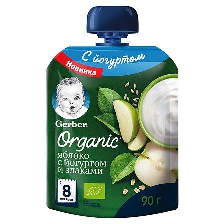 Пюре Gerber яблоко-злаки-йогурт 90г с 8месяцев
