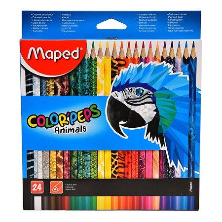 Карандаши цветные MAPED Color Peps Animals 24цвета 832224