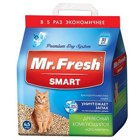 Наполнитель для кошек Mr.Fresh Smart короткошерстных 4.5л