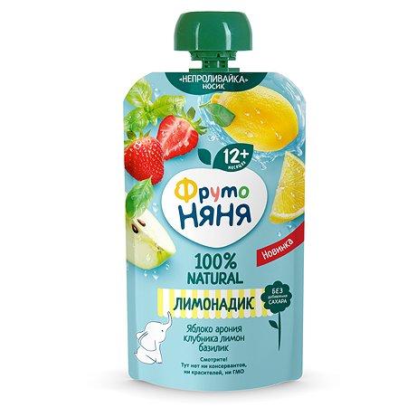 Напиток  сокосодержащий ФрутоНяня яблоко-рябина-клубника-лимон-базилик 130мл с 1года