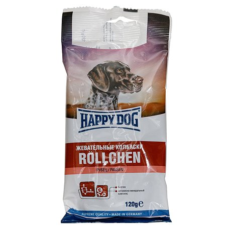 Лакомство для собак Happy Dog Колбаса с рубцом 120г