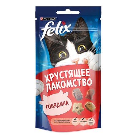 Лакомство для кошек Felix Хрустящее с говядиной 60г