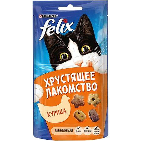 Лакомство для кошек Felix Хрустящее с курицей 60г