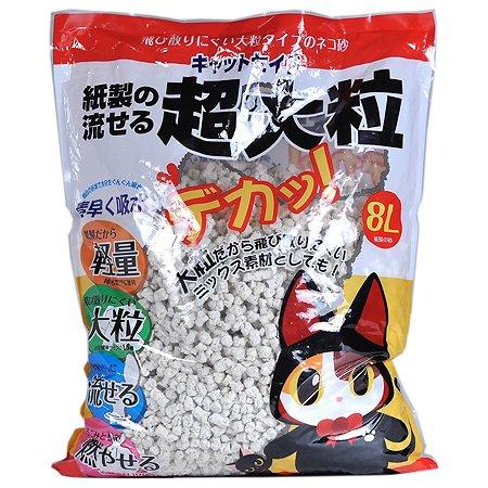 Наполнитель для кошек Catseido бумажный крупные гранулы 8л